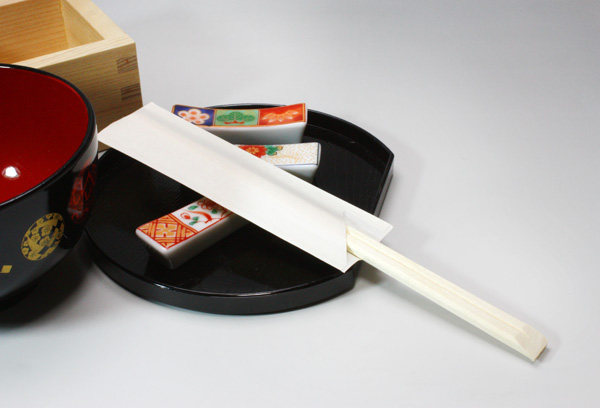 箸袋入り割り箸(白はかま詳細)